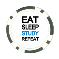 Eat Sleep Study Repeat Poker Chip Card Guard by Valentinaart
