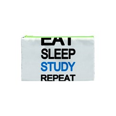 Eat Sleep Study Repeat Cosmetic Bag (xs) by Valentinaart