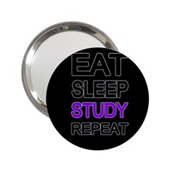Eat Sleep Study Repeat 2 25  Handbag Mirrors by Valentinaart