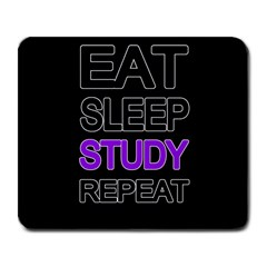 Eat Sleep Study Repeat Large Mousepads by Valentinaart