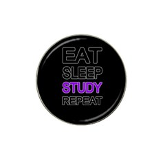 Eat Sleep Study Repeat Hat Clip Ball Marker by Valentinaart