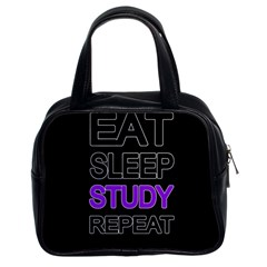 Eat Sleep Study Repeat Classic Handbags (2 Sides) by Valentinaart