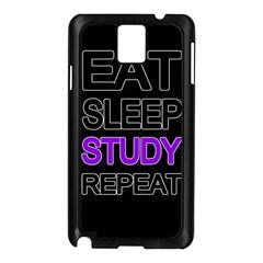 Eat Sleep Study Repeat Samsung Galaxy Note 3 N9005 Case (black) by Valentinaart