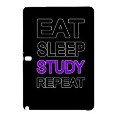 Eat Sleep Study Repeat Samsung Galaxy Tab Pro 12 2 Hardshell Case by Valentinaart