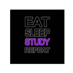 Eat Sleep Study Repeat Small Satin Scarf (square) by Valentinaart