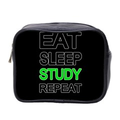 Eat Sleep Study Repeat Mini Toiletries Bag 2 Side by Valentinaart