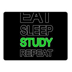 Eat Sleep Study Repeat Fleece Blanket (small) by Valentinaart