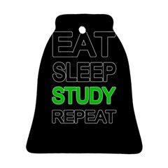 Eat Sleep Study Repeat Bell Ornament (two Sides) by Valentinaart