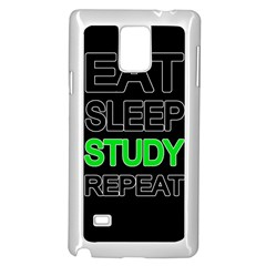Eat Sleep Study Repeat Samsung Galaxy Note 4 Case (white) by Valentinaart