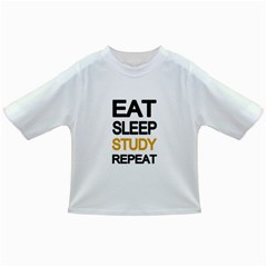 Eat Sleep Study Repeat Infant/toddler T Shirts by Valentinaart