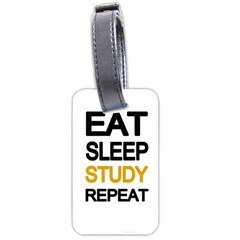 Eat Sleep Study Repeat Luggage Tags (two Sides) by Valentinaart