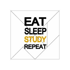 Eat Sleep Study Repeat Acrylic Tangram Puzzle (4  X 4 ) by Valentinaart