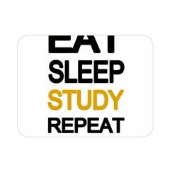 Eat Sleep Study Repeat Double Sided Flano Blanket (mini)  by Valentinaart