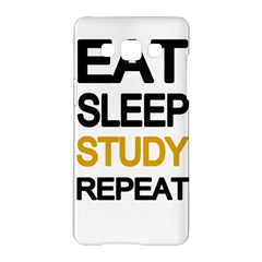 Eat Sleep Study Repeat Samsung Galaxy A5 Hardshell Case  by Valentinaart