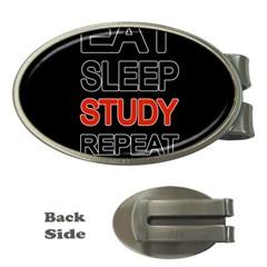 Eat Sleep Study Repeat Money Clips (oval)  by Valentinaart