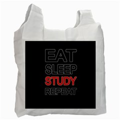 Eat Sleep Study Repeat Recycle Bag (two Side)  by Valentinaart