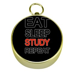 Eat Sleep Study Repeat Gold Compasses by Valentinaart