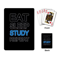 Eat Sleep Study Repeat Playing Card by Valentinaart