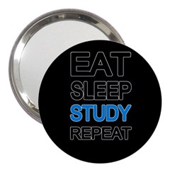 Eat Sleep Study Repeat 3  Handbag Mirrors by Valentinaart