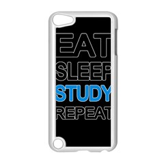Eat Sleep Study Repeat Apple Ipod Touch 5 Case (white) by Valentinaart