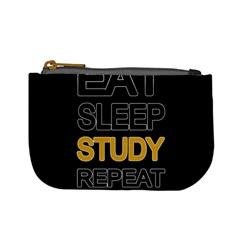 Eat Sleep Study Repeat Mini Coin Purses by Valentinaart