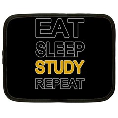 Eat Sleep Study Repeat Netbook Case (xl)  by Valentinaart