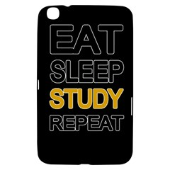 Eat Sleep Study Repeat Samsung Galaxy Tab 3 (8 ) T3100 Hardshell Case  by Valentinaart