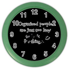 Lazy Color Wall Clocks by Valentinaart
