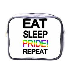 Eat Sleep Pride Repeat Mini Toiletries Bags by Valentinaart