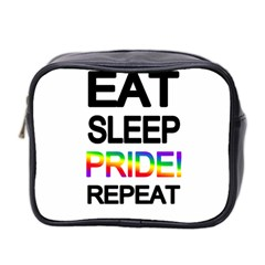 Eat Sleep Pride Repeat Mini Toiletries Bag 2 Side by Valentinaart