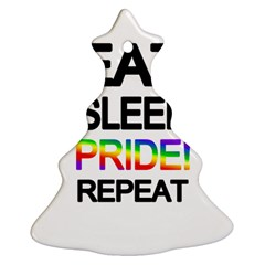 Eat Sleep Pride Repeat Ornament (christmas Tree)  by Valentinaart