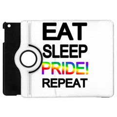 Eat Sleep Pride Repeat Apple Ipad Mini Flip 360 Case by Valentinaart