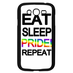 Eat Sleep Pride Repeat Samsung Galaxy Grand Duos I9082 Case (black) by Valentinaart