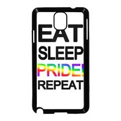 Eat Sleep Pride Repeat Samsung Galaxy Note 3 Neo Hardshell Case (black) by Valentinaart