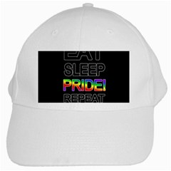 Eat Sleep Pride Repeat White Cap by Valentinaart
