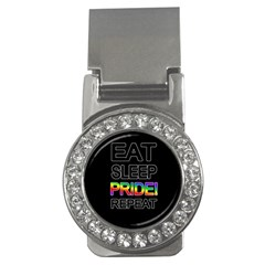 Eat Sleep Pride Repeat Money Clips (cz)  by Valentinaart