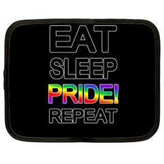 Eat Sleep Pride Repeat Netbook Case (xl)  by Valentinaart