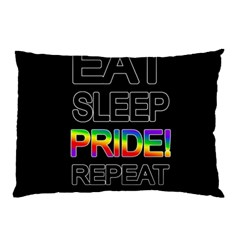 Eat Sleep Pride Repeat Pillow Case (two Sides) by Valentinaart