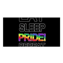 Eat Sleep Pride Repeat Satin Shawl by Valentinaart