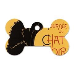 Black Cat Dog Tag Bone (one Side) by Valentinaart