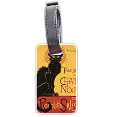 Black Cat Luggage Tags (two Sides) by Valentinaart