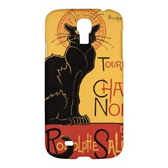 Black Cat Samsung Galaxy S4 I9500/i9505 Hardshell Case by Valentinaart
