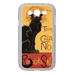 Black Cat Samsung Galaxy Grand Duos I9082 Case (white) by Valentinaart