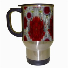 Paint On Water Falls,in Peace And Calm Travel Mugs (white) by pepitasart