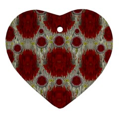 Paint On Water Falls,in Peace And Calm Heart Ornament (two Sides) by pepitasart
