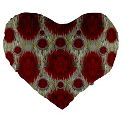 Paint On Water Falls,in Peace And Calm Large 19  Premium Heart Shape Cushions by pepitasart