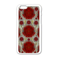 Paint On Water Falls,in Peace And Calm Apple Iphone 6/6s White Enamel Case by pepitasart