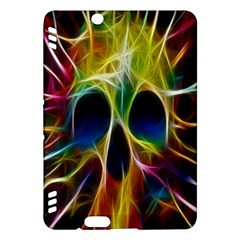 Skulls Multicolor Fractalius Colors Colorful Kindle Fire HDX Hardshell Case by Gogogo