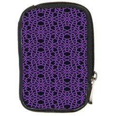 Triangle Knot Purple And Black Fabric Compact Camera Cases by Gogogo