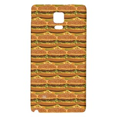 Delicious Burger Pattern Galaxy Note 4 Back Case by berwies